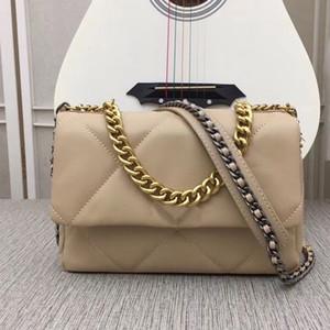 크로스 바디 가방 핸드백 지갑 Fannypack 큰 다이아몬드 격자 정품 가죽 일반 패션 여성 하드웨어 체인 어깨 가방 무료 배송