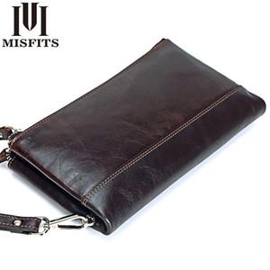 Quenya Erkekler marka Organizatör hakiki deri çift fermuarlı debriyaj çanta adam inek derisi Uzun cüzdan Çok fonksiyonlu telefon torbasını cüzdanlar