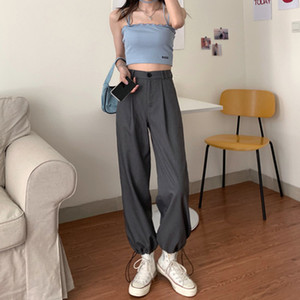 Sweatpants Women Casual Loose Harem Cargo Pants Plus Size Trousers Mujer Office Work Vintage High Waist Pants Summer 2020