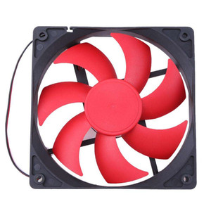 1pc Cooling Fan 120mm DC12V Silent Powered Maglev Switch Silent Computer Fans 1800 RPM 2 Lines 2pin 120x120x25mm