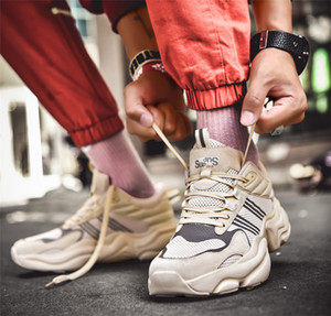 1 running 2020 Atacado quente voando juventude selvagem moda respirável hip-hop de grife sapatos tênis sneakers quatro cores dos homens
