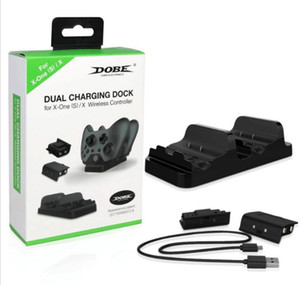 Dual Charging Dock Controller Charger 2pcs Rechargeable Batteries for XBOX ONE X Rechargeable Battery Best Dual Charging Station 20pcs DHL