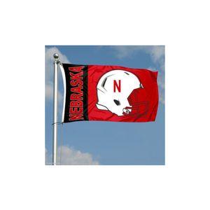 Nebraska-Cornhuskers-Flag, NCAA Sports 3x5 Single Side Printing 80% Bleed, Digital Printed