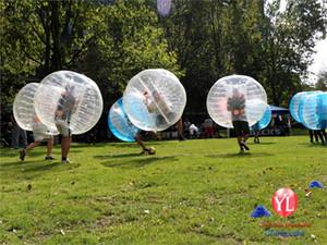 New Safty Umweltschutz 0.8mm 1.0 PVC 1.55m 1.8 Air Auto Durable TPU Blau Inflatable Menschen Sized Fußball Bubble Ball Fußball