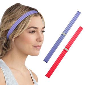 2ST Sport Stirnband Schweißband-Haar-Band-Silikon-Streife Anti-Rutsch-Kopfbedeckung elastische Haar-Band für Sport Fitness Yoga-Übung
