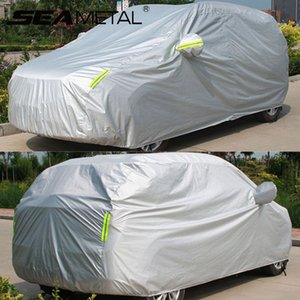 Waterproof Car covers Outdoor Sun Protection Cover for Car Reflective Stripe For SUV Sedan Hatchback Auto Exterior Accessories