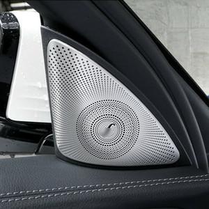 Refit Pour Benz E Classe W213 S213 2016-2019 Couverture De Haut-Parleur Audio De Porte De Voiture Mat Garniture
