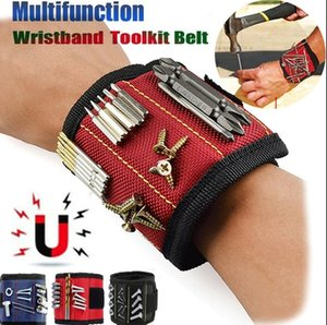 Magnetic Wristband Strong Magnets Holding Screws Nails Drill Bits Carpenter Tool Arm Band Belt Cuff Bracelet Holds Screws Nails Bits