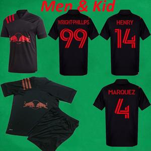 2020 MLS New York Red Futbol Formalar 2020 Erkekler Çocuklar Koyu Modu Futbol Jersey Kaku Wright-Phillips anthea HENRY UZUN Futbol Gömlek