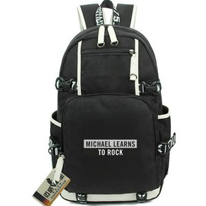 Michael learns to rock backpack The Actor day pack music school bag Computer packsack Quality rucksack Sport schoolbag Outdoor daypack