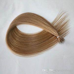 160g 200s 0.8 g / strand top quality tangle free shedding Free Brazilian Nano Ring Human Hair Extensions