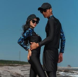 JkKdF 2019 lovers ' diving swim diving suit женский мужской сплит брюки с длинным рукавом одежда для медуз подводное плавание серфинг плавательный костюм quick d