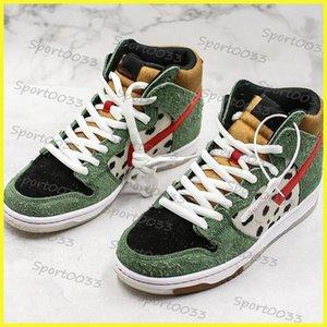 SB Dunk High Dog Walker, Leopard-Korn-Basketball-Schuhe für Top-Qualität Männer Frauen Turnschuhe Schuhe Marken Freien Trainers EUR 36-45