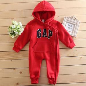 Nuevos mamelucos del bebé con capucha de la cremallera linda algodón del mono ropa cómoda para los bebés recién nacidos 0-24 m ropa de bebé ropa de bebé recién nacido