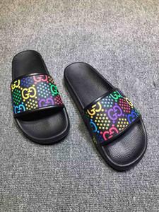 Mode de luxe designer sandales avant vente chaude sandales pour hommes et femmes designer plat pantoufles Haute Qualité Fleur Imprimé SlippersHX002