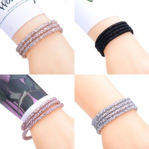 10Pcs Lot Magnet Exquisite Single Circle Crystal Rhinestones Cuff Bracelet Bangles For Women New Fashion Jewelry Gift Bangle