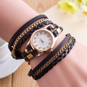 Лучшие продажи женские часы объемный браслет часы аналоговые кварцевые кожаные платья дамы подарки повседневная мода женщины #W