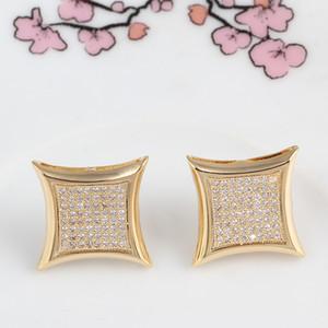 Marca de diamante letra c casamento Do Parafuso Prisioneiro das mulheres dos homens de Luxo branco brincos de Zircão ouro prata rosa Do Vintage geométrica Jóias atacado
