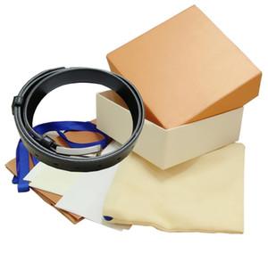 Desenho de Moda Homem Wowan Cintos de couro genuíno cinto de alta qualidade com caixa de presente