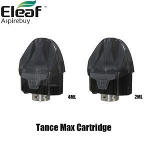 Atomiseur original de la cartouche 2ML / 4ML maximum d'Eleaf Tance avec la cosse maximum de tance de bobine de 0.6ohm pour le vape de batterie de Elance Tance Max