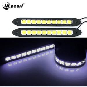 Nlpearl 2Pcs voiture lumière.Ensemble flexible LED Feux de jour étanche DRLLed COB Day Running Light Car Styling