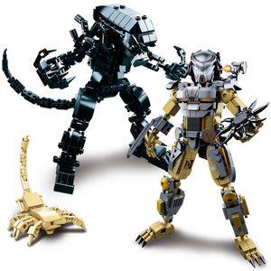 Детские Любань 0720 AB Инопланетные войны Iron и Blood Warrior бронеавтомобиль вертолетостроение блоки модельную детские игрушки