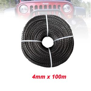 pieza 100M 4MM 12 Strand UHMWPE Cabrestante Synthetic Rope Extreme Strong