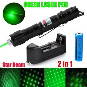 10Mile Super Range 2в1 зеленая лазерная указка Pen Звезда Cap клипсы Астрономия 532nm Удивительные Lazer Cat Toy + 18650 + зарядное устройство