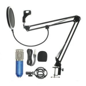 Condensador de audio profesional de 3,5 mm con cable BM800 Micrófono de estudio Grabación vocal KTV Karaoke Micrófono Micrófono W / soporte para la computadora