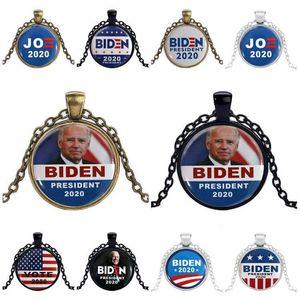 Biden Tag Gemstone Collier 2020 président américain Élection Donald Trump Joe Biden campagne Conception cadeau DDA77