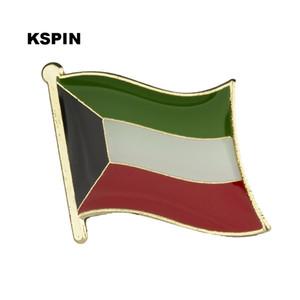 Kuveyt Bayrağı Yaka Pin Bayrak Rozeti Yaka Iğneler Rozetler Broş KS0094