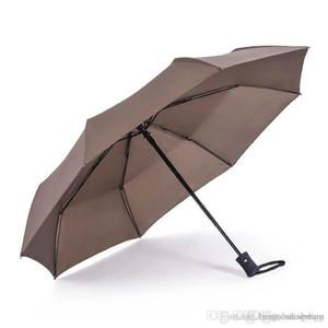 전체 자동 우산 멀티 색상 내구성이 긴 손잡이 3 배 비즈니스 우산 사용자 정의 크리 에이 티브 디자인 진흥 우산 BH0053