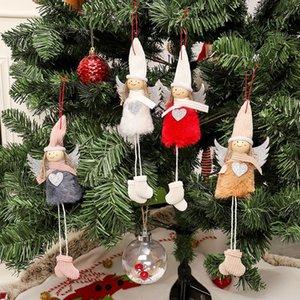 أفخم الملاك مع بريق القلب عيد الميلاد قلادة الديكور شنقا تمثال الحلي ديكورات هدية العيد