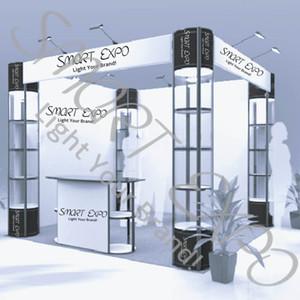 10 pies estándar de 10 pies * exhibición de la exposición caseta de feria Soporte comercial de la Compañía Económico stand de feria Con llevar las bolsas portátiles