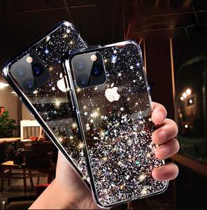 Роскошные побрякушки Блеск телефон чехол для iPhone 11 Pro X XS Max XR Soft Silicon Cover для iPhone 7 8 6 6S Plus Прозрачные случаи Капа