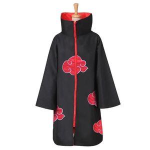 Uchiha Itachi Costumes Cosplay Cape Akatsuki Anime Japonais Naruto Vêtements Broderie Anime Costumes Rouge Nuage Cape