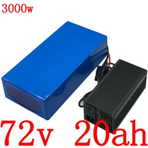 72V 72 72V Elektro-Fahrrad-Batterie 2000V 3000W Elektroroller Batterie 72V 20AH Lithium-Batterie-Ladegerät mit 5A
