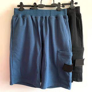 19SS styliste joggeurs Shorts Hommes d'été homme Pantalons Hommes Pantalons Hommes Joggers Pantalon bleu noir solide coton M-2XL