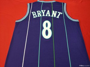 mamba a cabo la vendimia Baloncesto K B púrpura VERDE bordado Jersey auténtica universidad del tamaño S-XXL o costumbre cualquier nombre o el número del jersey
