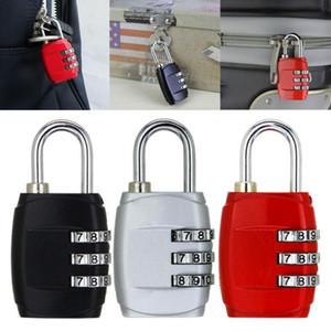 DHL 8 개 색상 체육관의 자물쇠화물 잠금 휴대용 3 미니 다이얼 자리 숫자 코드 암호 조합 자물쇠 보안 여행 안전 잠금
