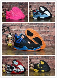 Kids Basketball Shoes 4s The Shoes For Children Sneakers Boys Girls 4 Athletic Shoes size 28-35