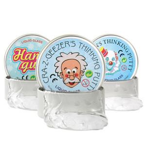 Trasparente Thinking Putty intelligente Gum creativa mano di materiale di protezione dell'ambiente elasticità Slime sciocco Liquid plastilina Fango