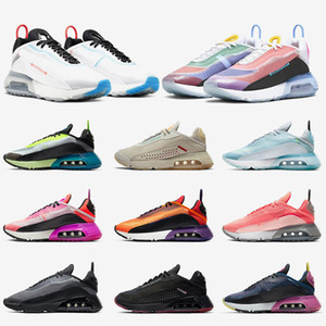 Nike Air MAX 2090 air 2090 Verão Tênis de Corrida Respirável Puro Platina Seja Verdadeiro Top Fashion Designer Sneaker Triplo Preto Branco Rosa Malha Tênis Tênis