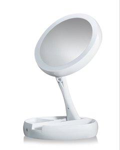 My Fold Away LED Makeup Mirror двухстороннее вращение складное USB освещенное зеркало тщеславия сенсорный экран настольная лампа регулируемое Косметическое зеркало
