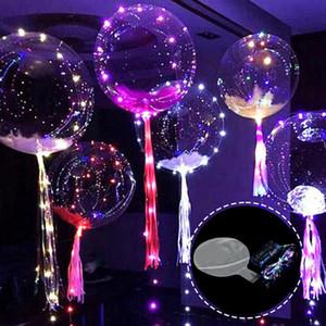 Bobo Balon LED Hattı Dize Sopa Dalga Topu Balon Noel Cadılar Bayramı Düğün Doğum Günü Ev Partisi Dekorasyon Için Işık Up DBC VT0519