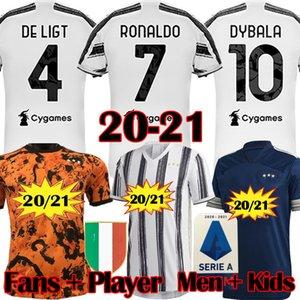 I fan juventino 2020 2021 di calcio camice di gioco del calcio Jersey Ronaldo 20 21 Dybala JUVE Uomini kit uniformi