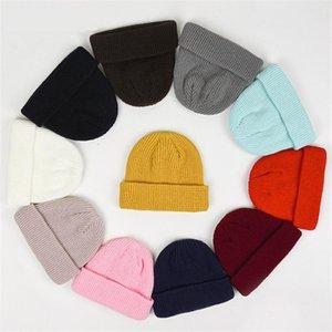 Stretchy Knit Beanie Hat for Women Unisex Solid Hip Hop Skullies Plain Winter Brimless Docker Hat Warm Outdoor Mens Skullcap