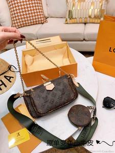 1wan Klasik Moda Tek Omuz Çantası Üst Kalite marka kadın omuz çantası deri zincir çanta