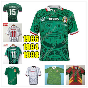 RETRO MEXICO FOOTBALL JERSEYS BLANCO 11 HERNANDEZ 15 Campos Ramirez 7 Palencia H.SANCHEZ 9 FOOTBALL CALCIO futbol 86 98 94 HOT VENTE