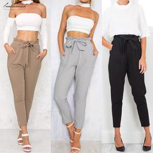 Yüksek Katı Pantolon Kadınlar Kalem Uzun Stretch Casual Skinny Jeans Yüksek Bel Kot Pantolon Drop Shipping İyi Kalite